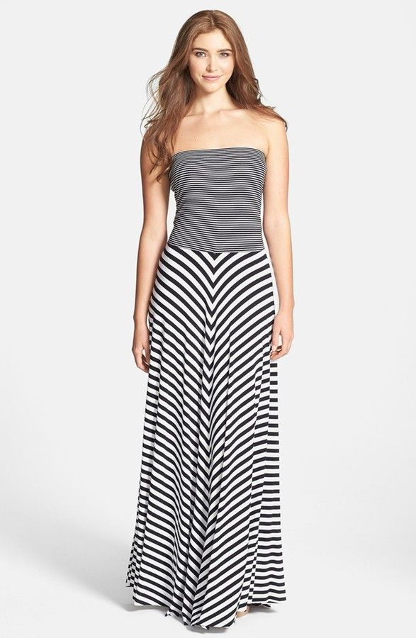 0d947a0d9 Nordstrom FELICITY & COCO Contrast Stripe Strapless Maxi Dress on  shopstyle.com