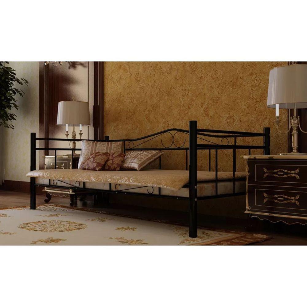 Vidaxl Tagesbett Einzelbett 90x200 Metallbett Bettgestell Metall