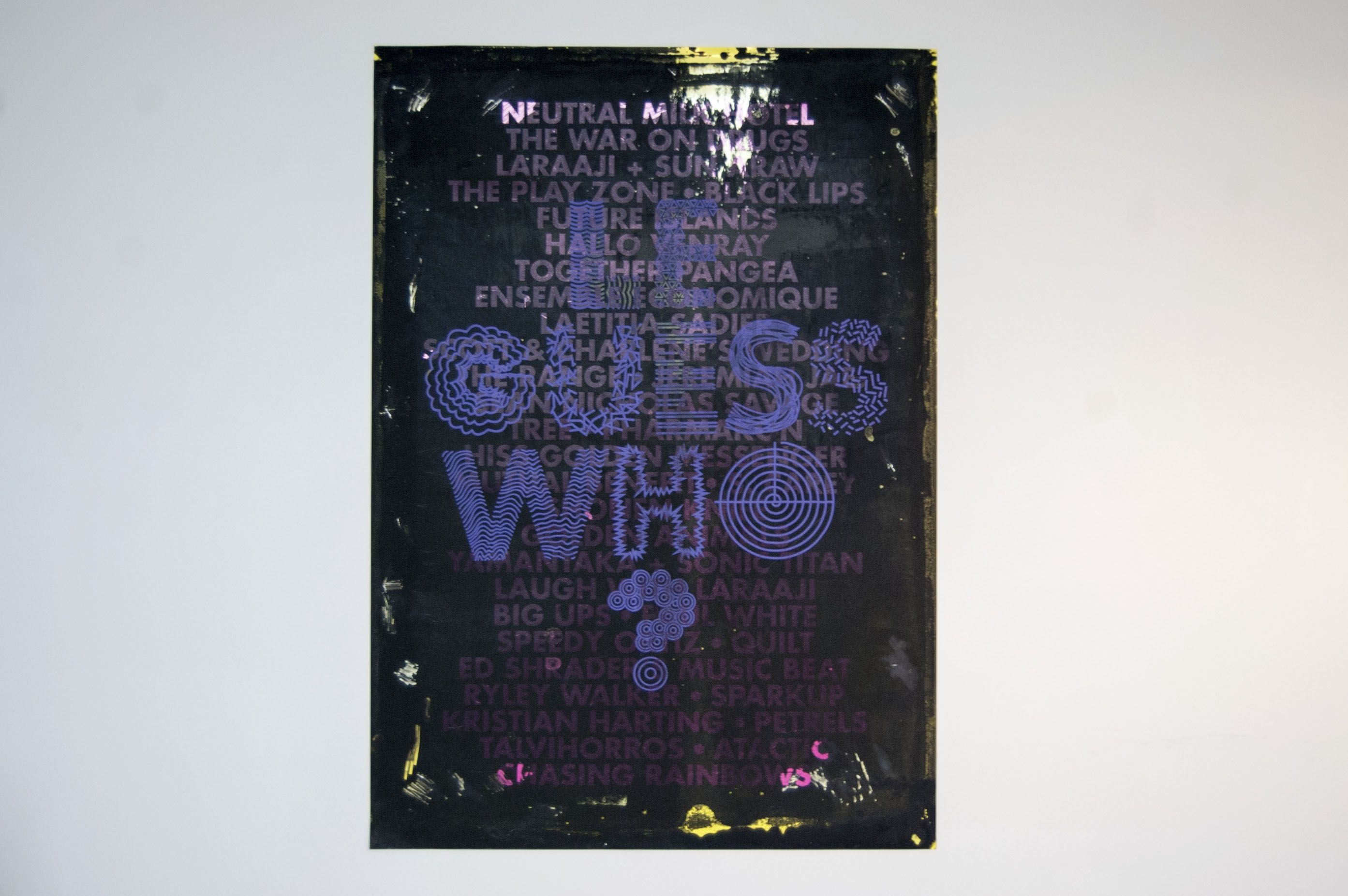 Silk Screen Poster Le Guess Who festival