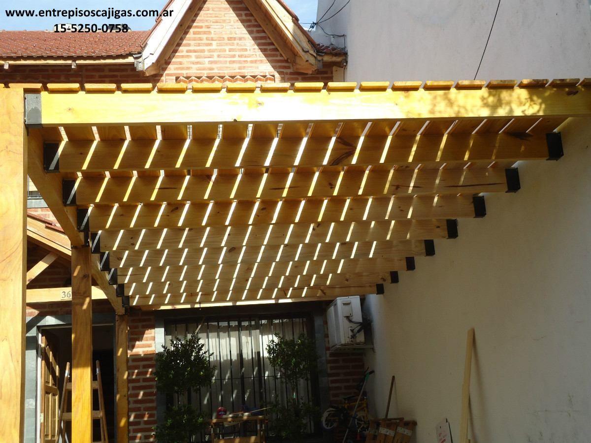 Entrepisos de madera altillos pergolas barandas escaleras - Barandas de escaleras de madera ...