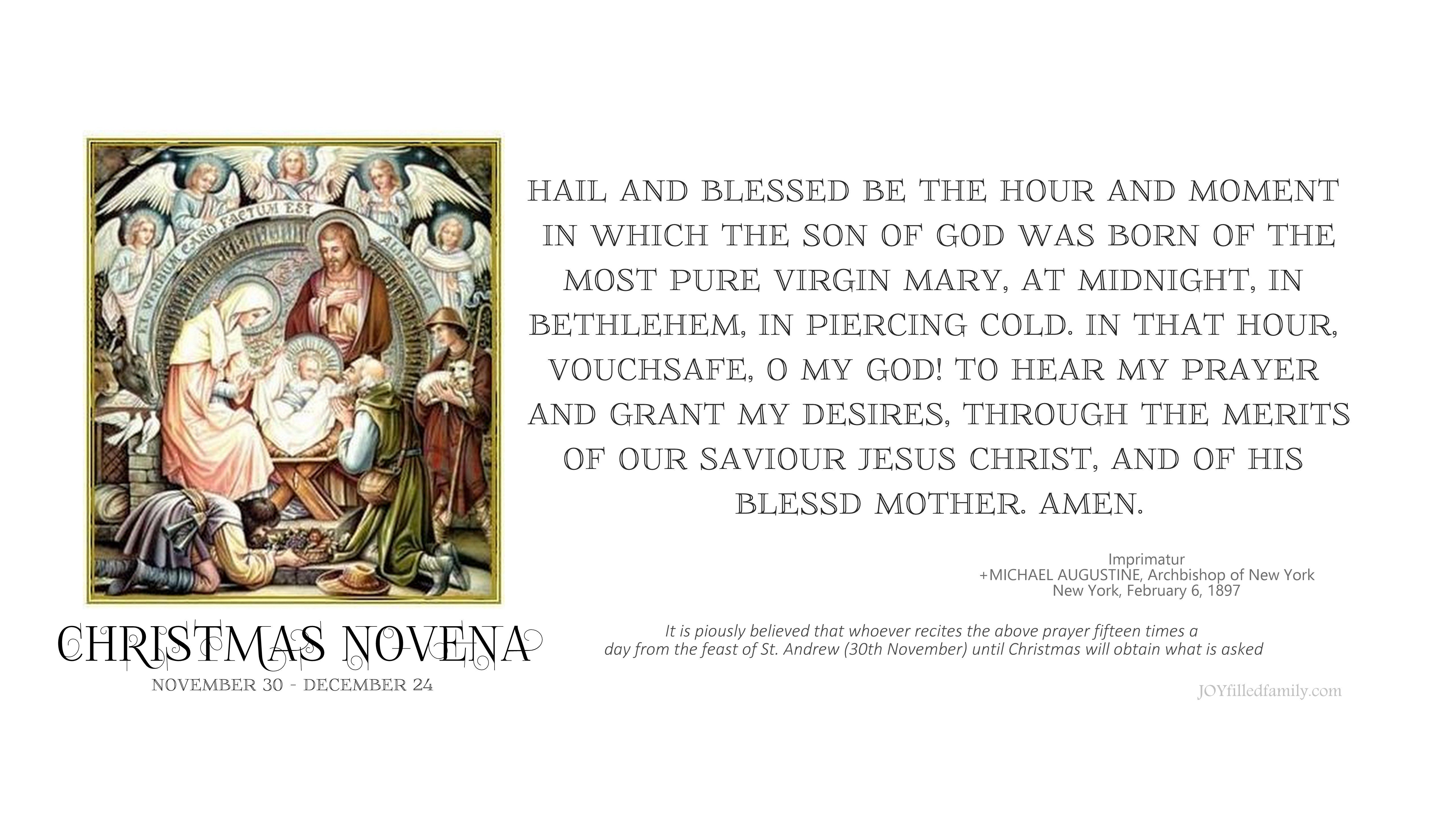 Christmas Novena printable prayer card and craft project for a ...