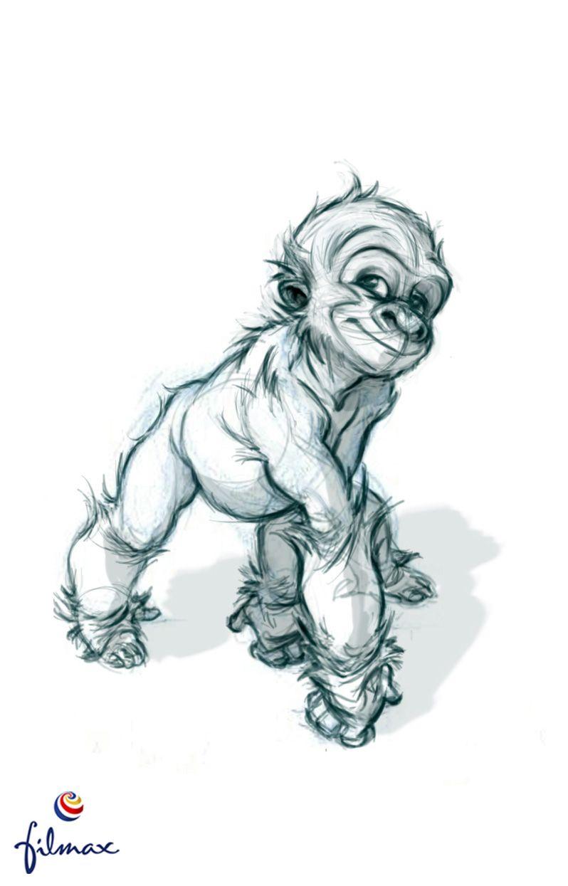 Gorila baby. | Arte | Pinterest | Dibujo, Bocetos y Ilustraciones