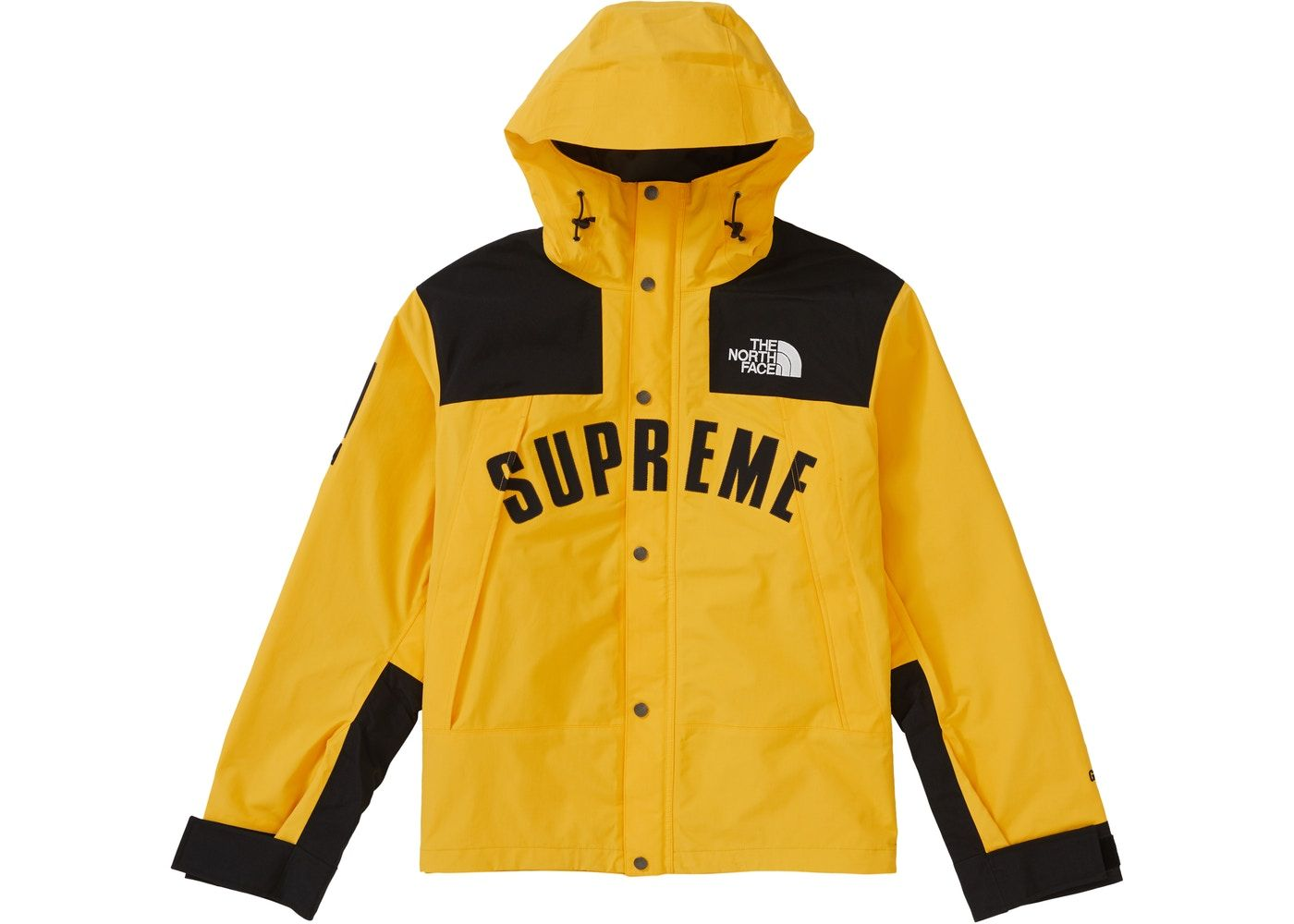 Supreme The North Face Arc Logo Mountain Parka Yellow Ss19 North Face Jacket Streetwear Jackets Full Zip Hoodie [ 1000 x 1400 Pixel ]