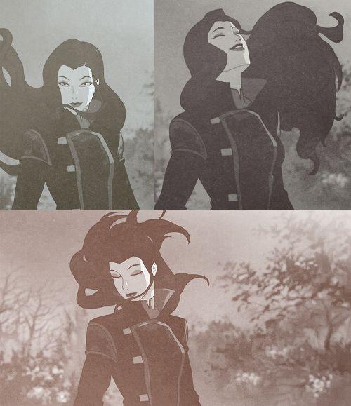 Avatar Aang With Hair: Asami's Hair Swooshing Skillz Are Rediculous. Poor Korra