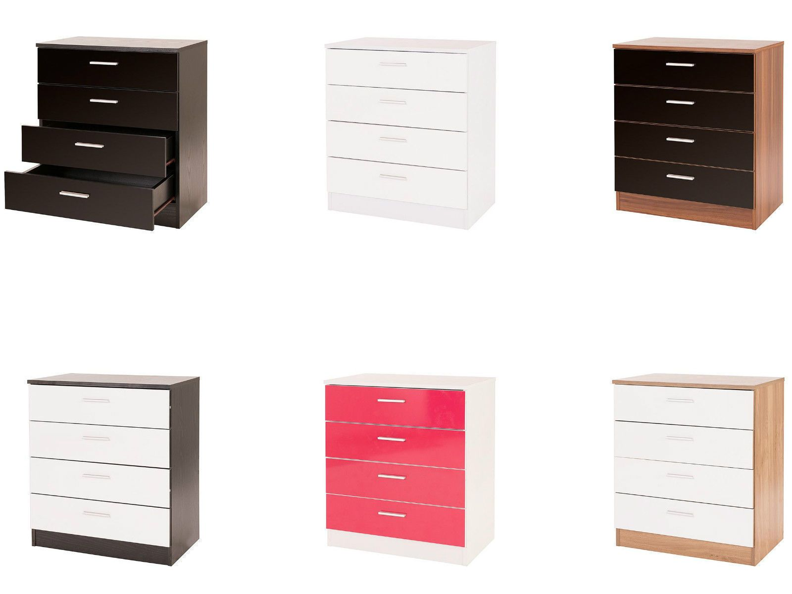 Details about NEW Caspian High Gloss Bedroom Furniture Set - Full ...