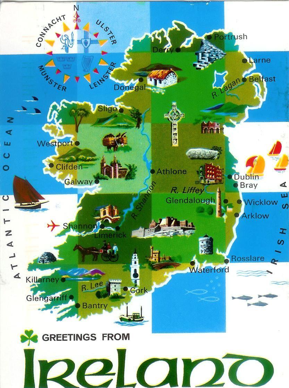 mapa de irlanda  Buscar con Google  Irlanda y Dublin  Pinterest