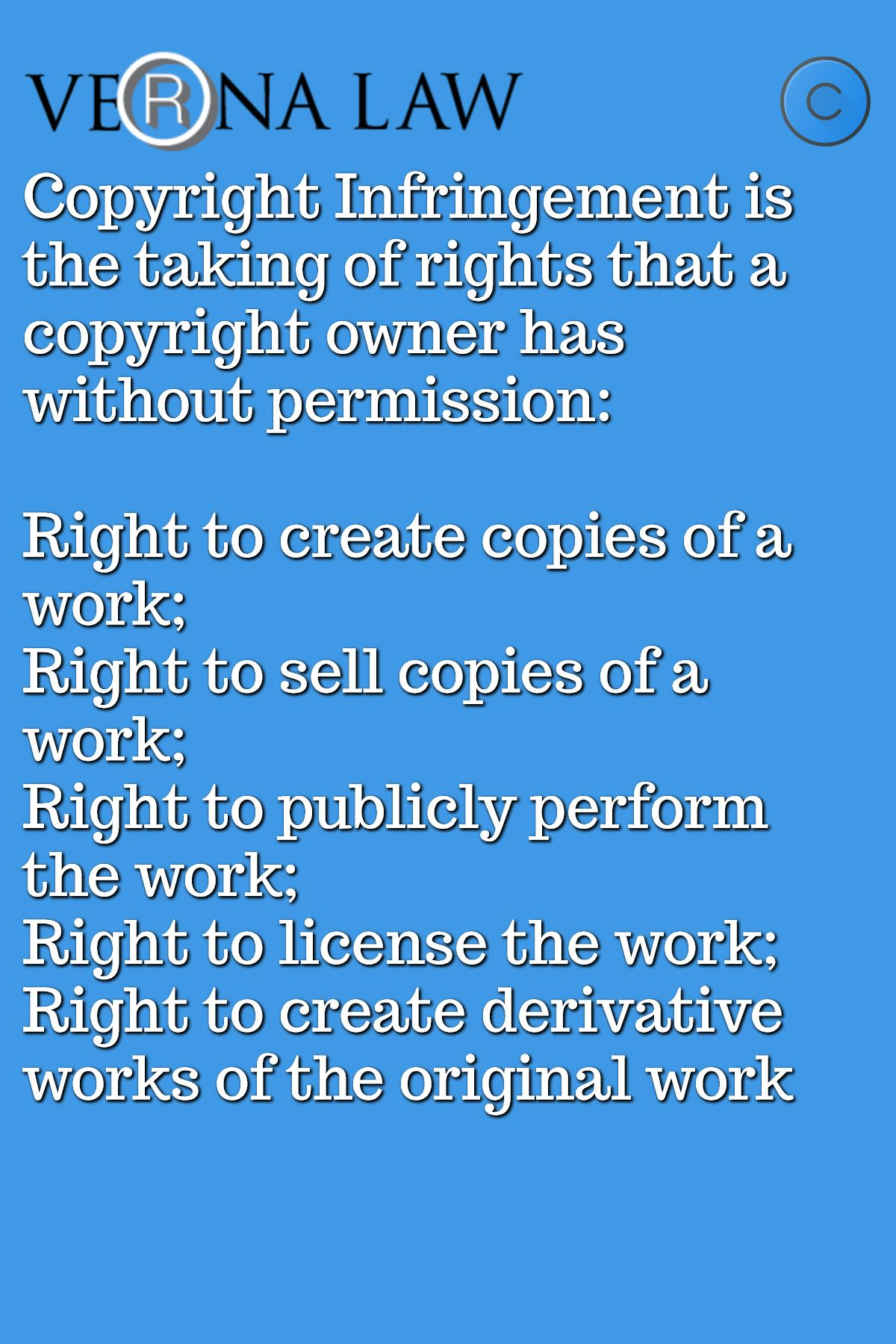 Copyright Infringement Is The Taking Of Rights That A Copyright Owner Has Without Permission Right To Create Copyright Infringement Tune Music Things To Sell
