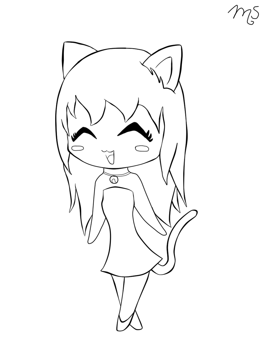 Easy draw cat girls black and white saferbrowser yahoo image search results