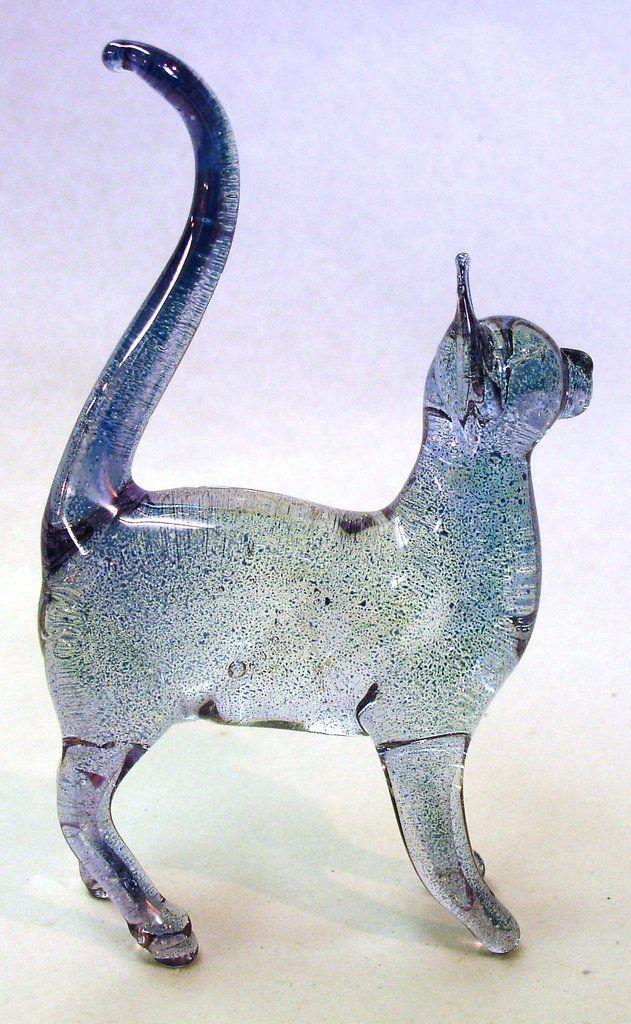 Glass Cat Standing | Glass animals, Glass figurines, Glass art
