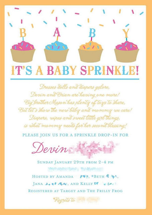 baby sprinkle invitation wording for third child baby sprinkle in