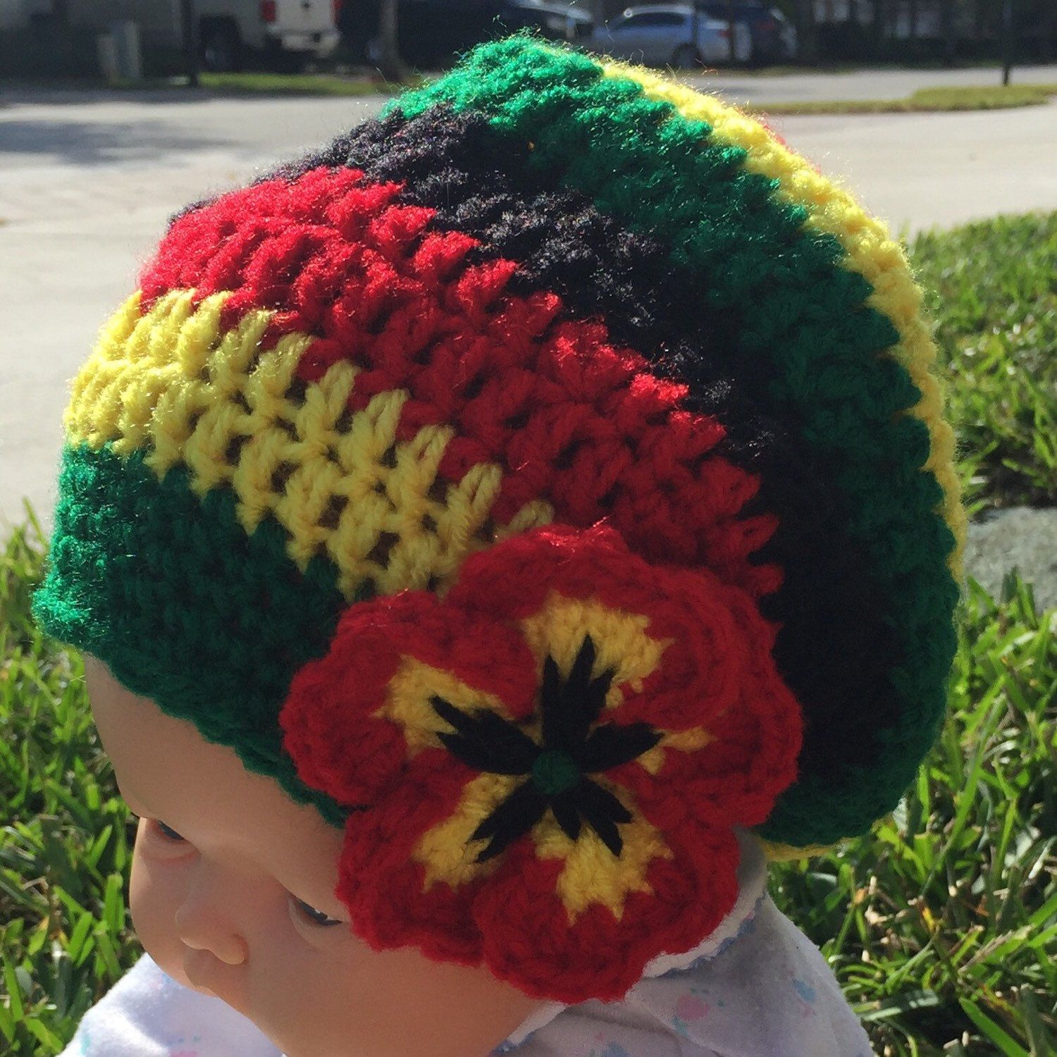 Rasta colors kippah yarmulke or YOUR colors, theme and size ...