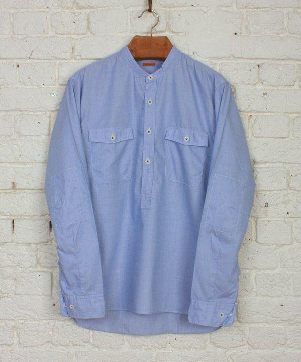 Albam Collarless Overhead Shirt