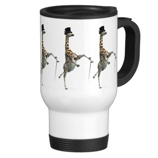 Tap Dancing Giraffe Travel Mug | Giraffe and Taps