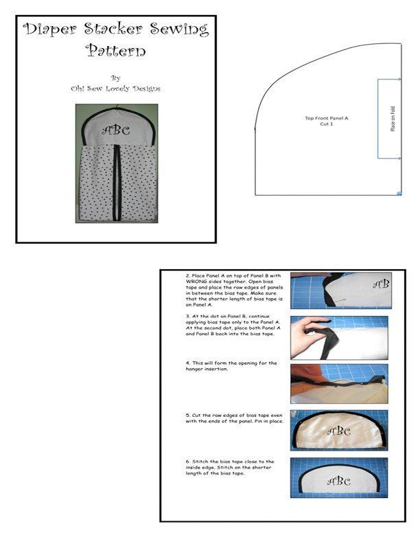 Diaper Stacker Sewing Pattern Nappy Stacker Digital Download Pdf