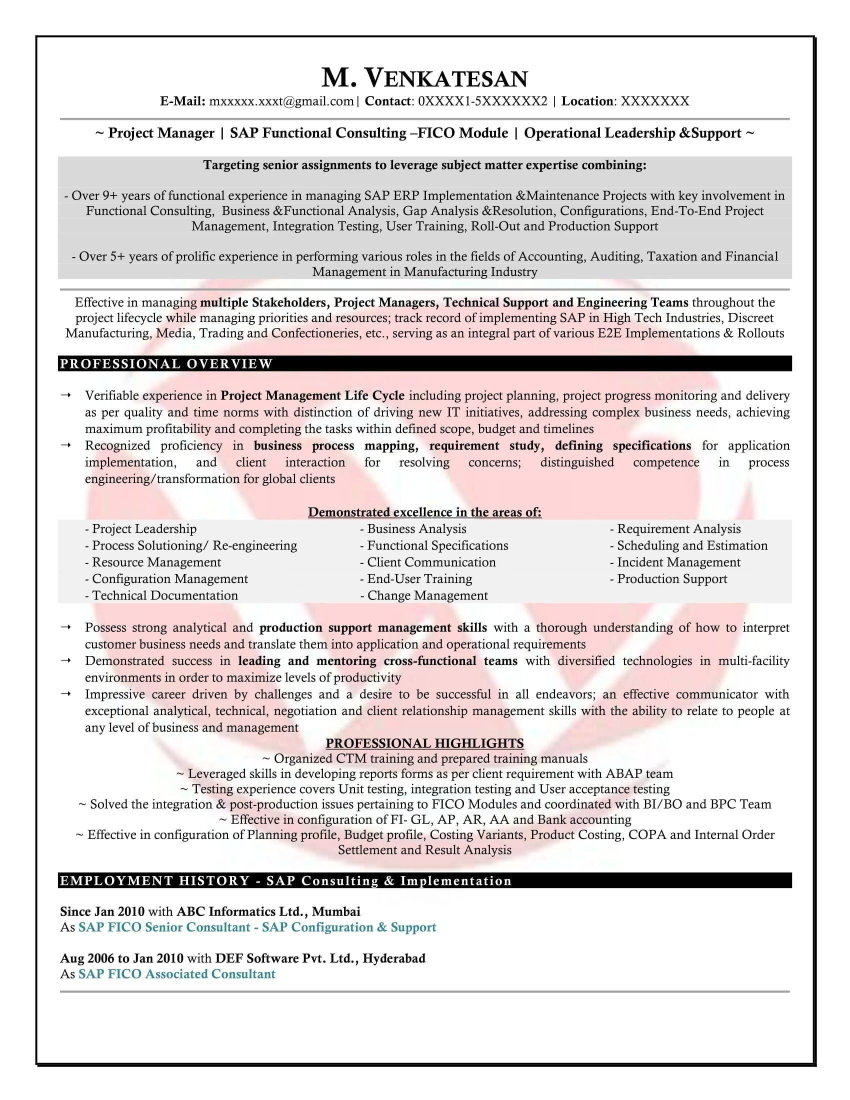 5 Years Experience Resume Beautiful Consulting Resume