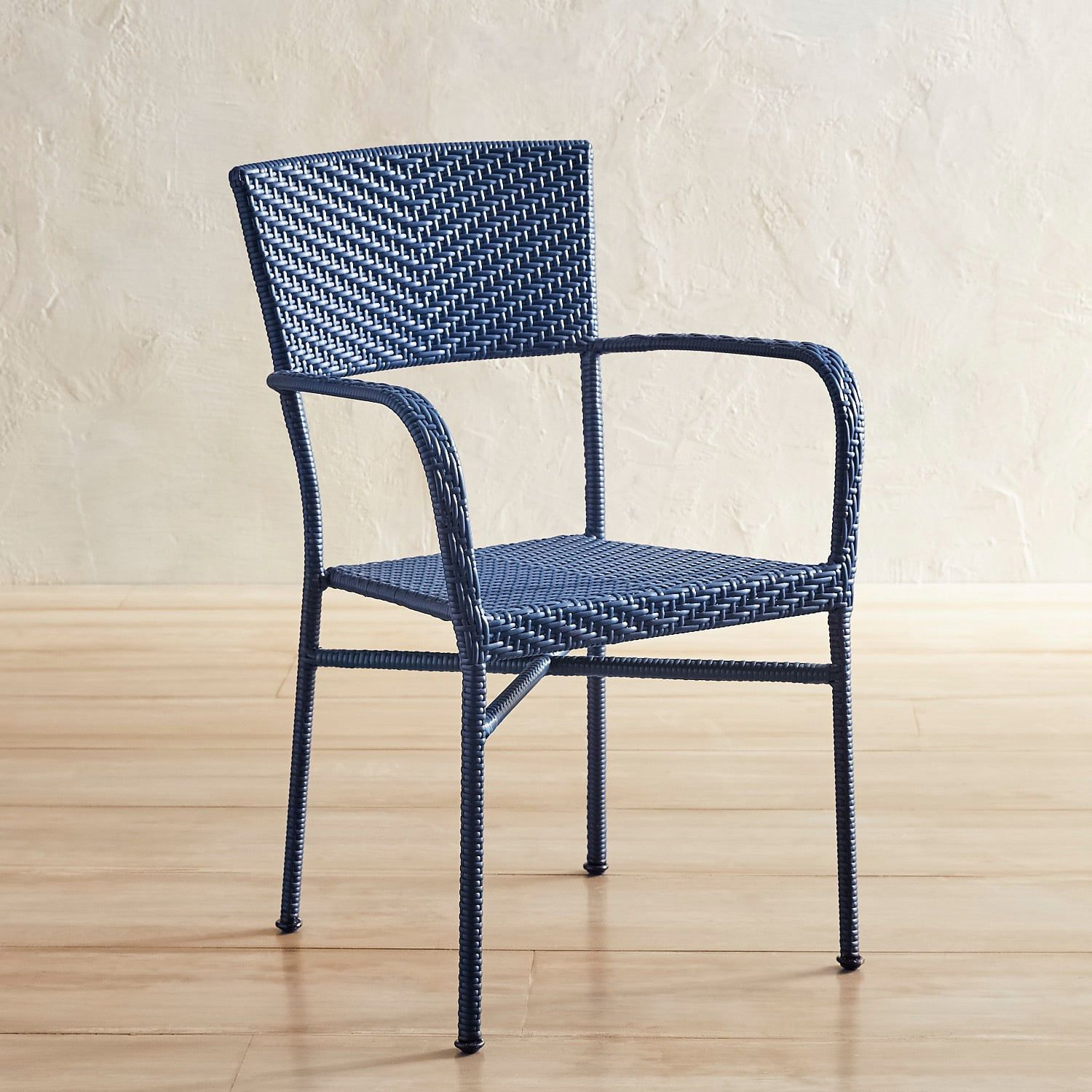 Del Rey Navy Stacking Chair | Outdoor dining chairs ...