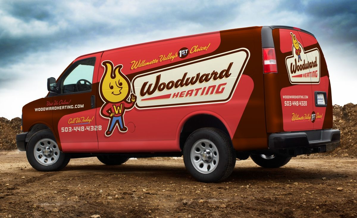 Woodward Heating Kickcharge Creative Car Wrap Design Cool