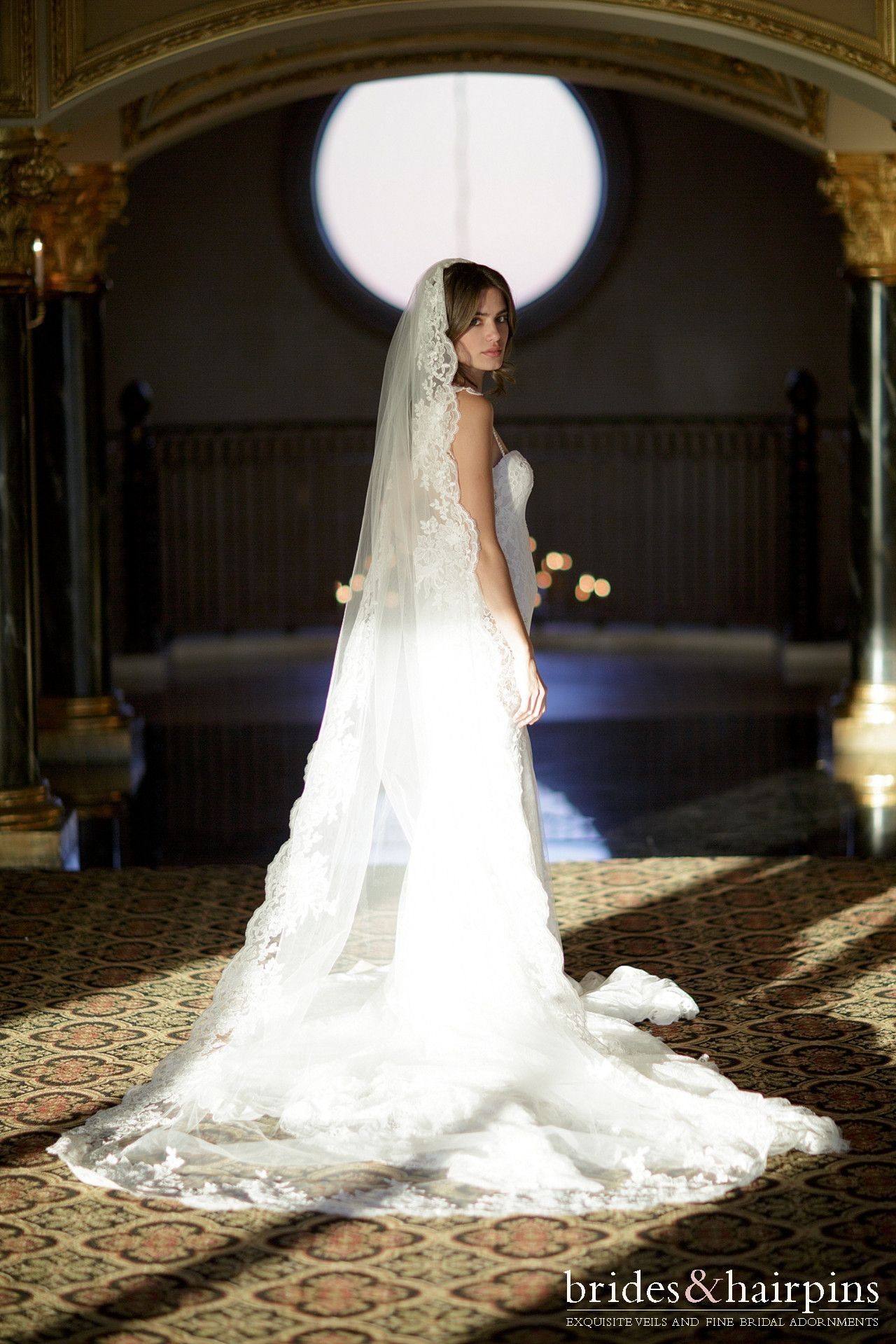View entire slideshow look we love lace trimmed veils on