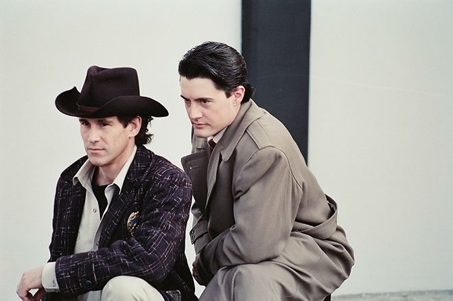 Image result for agent cooper and sheriff truman