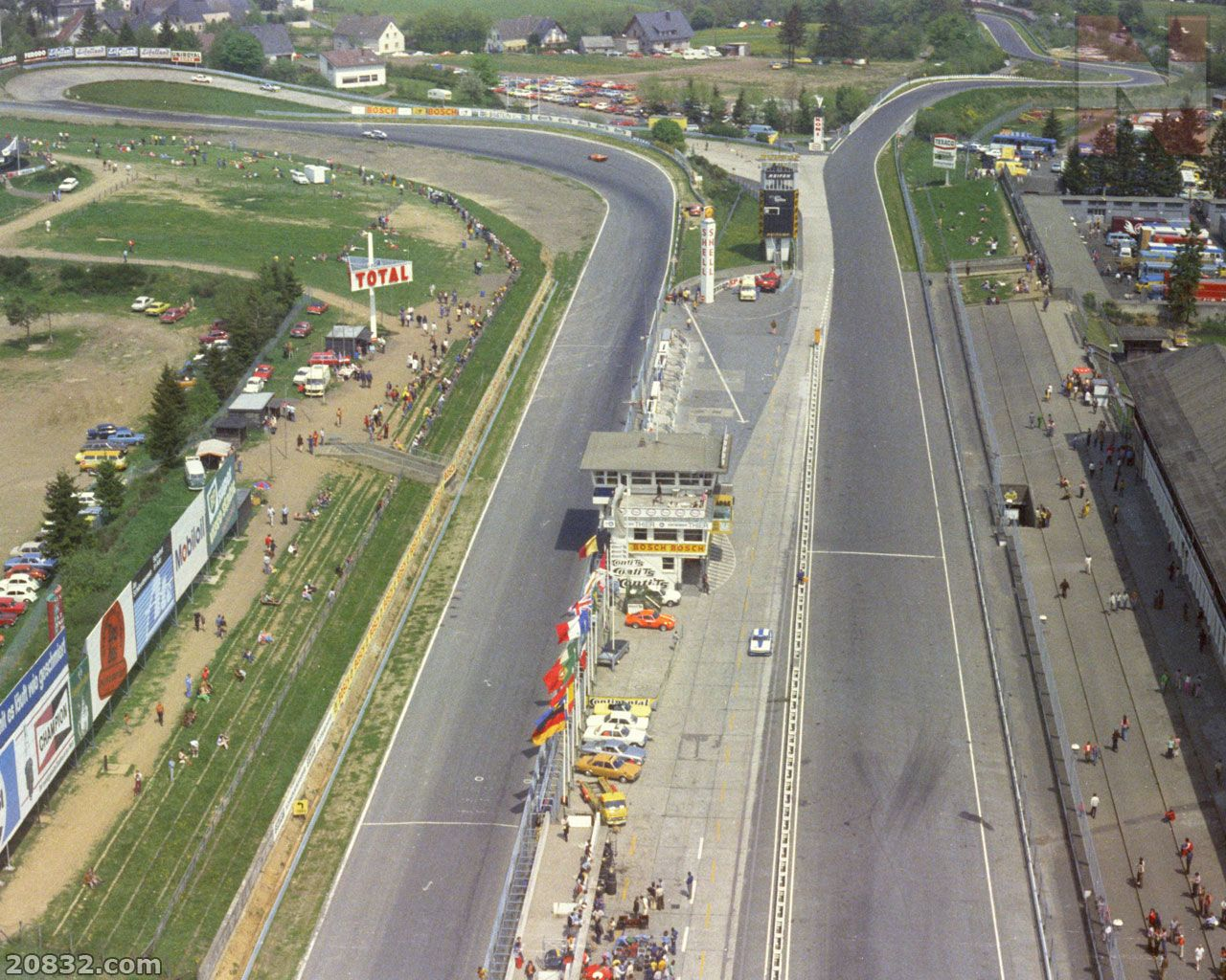 A view on the Start & Finish Area of the Nürburgring sometime in the early 70s