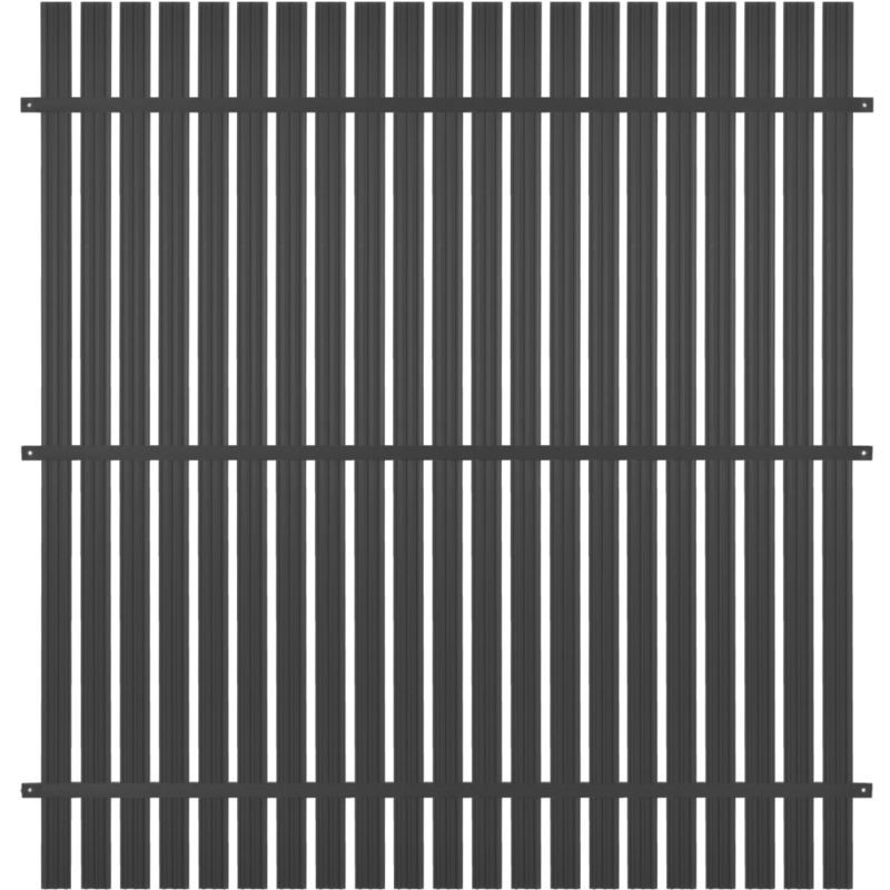 Panneau De Cloture Aluminium 180x180 Cm Anthracite 44921 Outdoor Blinds Radiators