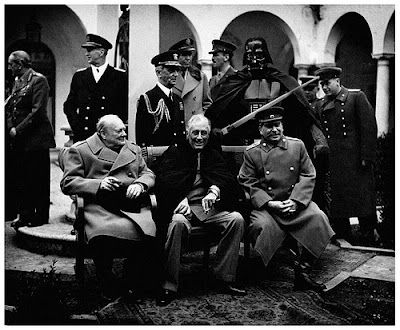 Churchill, Roosevelt, Stalin, Wader