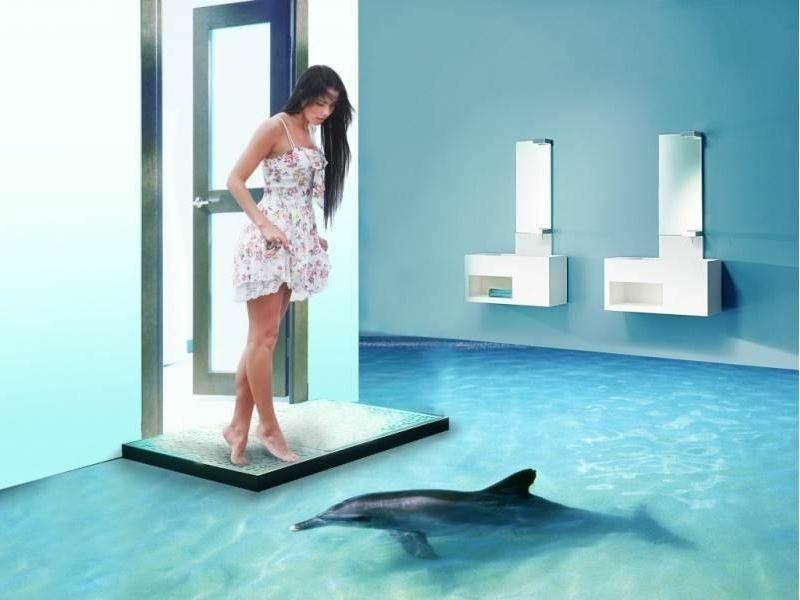 3d fliesen ideen f r das badezimmer badezimmer renovieren pinterest badezimmer 3d. Black Bedroom Furniture Sets. Home Design Ideas