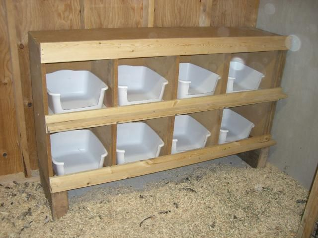 Easy To Clean Nesting Boxes Cut The Front Edge So They Don T Roost