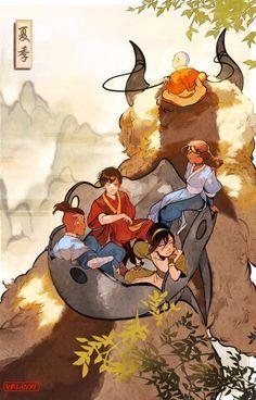 Avatar the Last Airbender print- The Gaang