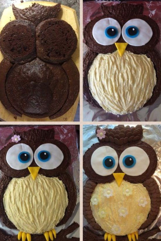 Easy Chocolate Owl Cake Quick Video Instructions Owl cakes Owl
