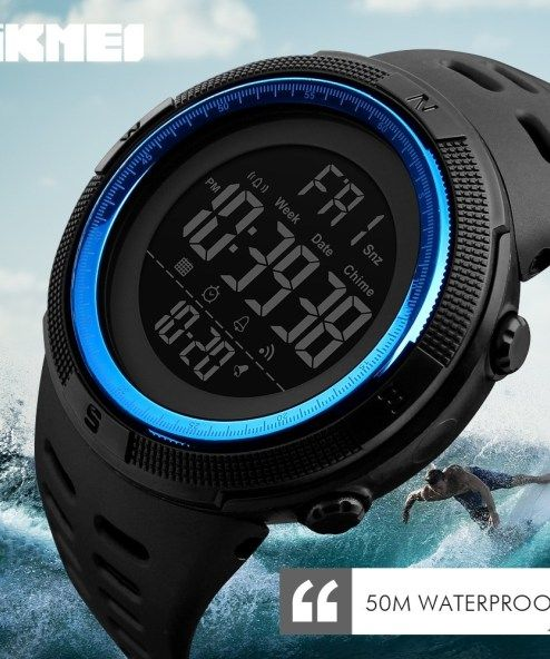 SKMEI Waterproof Mens Fashion Casual LED Digital Outdoor Sports Watch #sportswatches