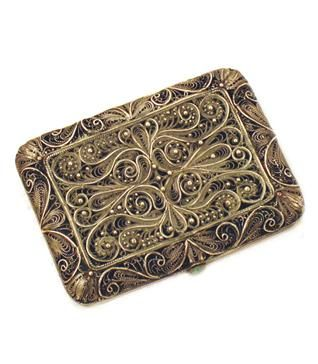 Vintage Filigree Card Holder Cigarette Case