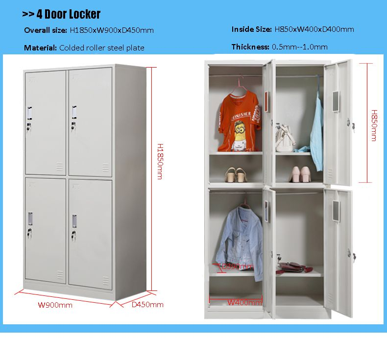 Furniture Our Standard Size Of 4 Door Locker For Clothes Storage Cabinet Www Sj Furniture Com Sales Sj Furniture Com Clothes Cabinet Furniture Locker Storage
