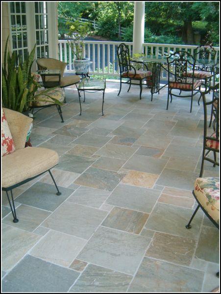 Slate Tile Porch Patio Flooring Patio Patio Tiles