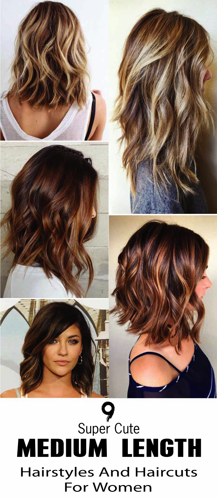 Here Are 9 Super Cute Medium Length Hairstyles And Haircuts For Women No Matter How You We Medium Length Hair Styles Hair Styles Cute Medium Length Hairstyles