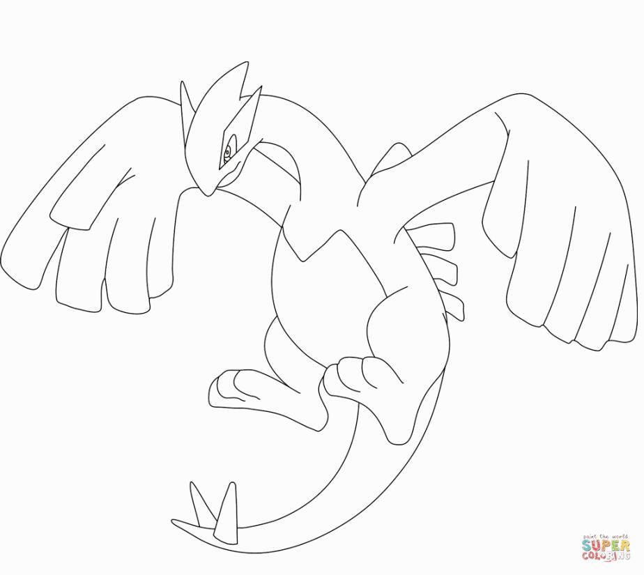 Lugia Coloring Pages   Coloring Pages   Pinterest   Pokemon coloring ...