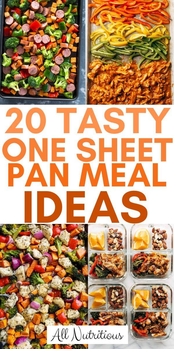Photo of 20 Tasty One Sheet Pan Meal Ideas