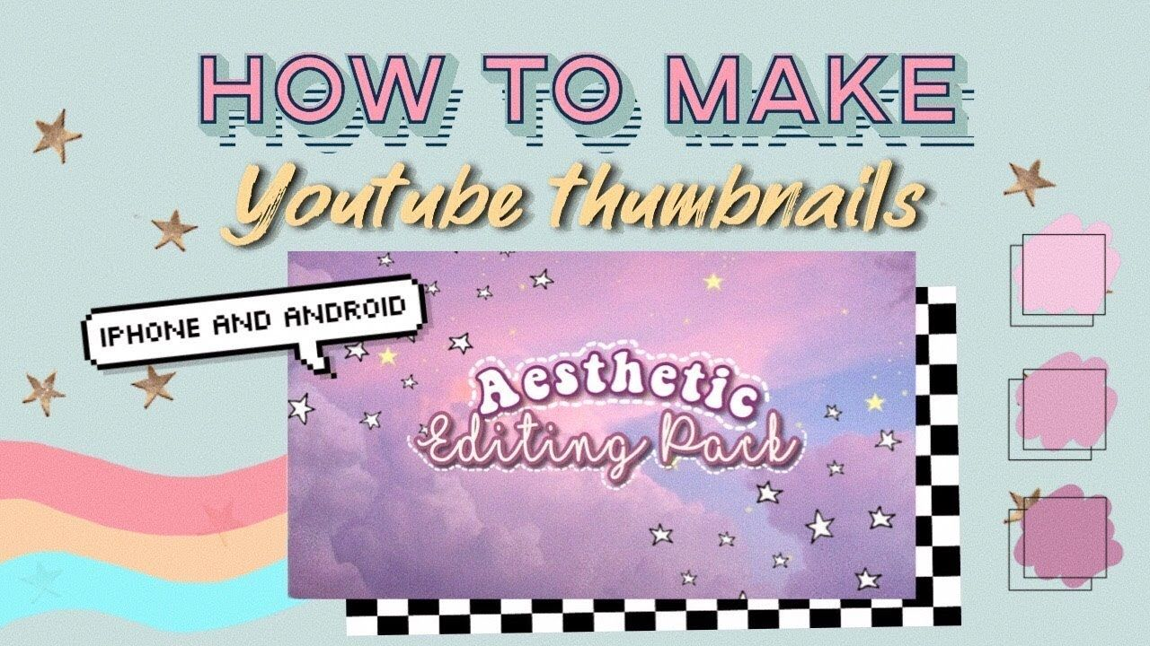 How to make a Youtube Thumbnails (++Apps that I use to