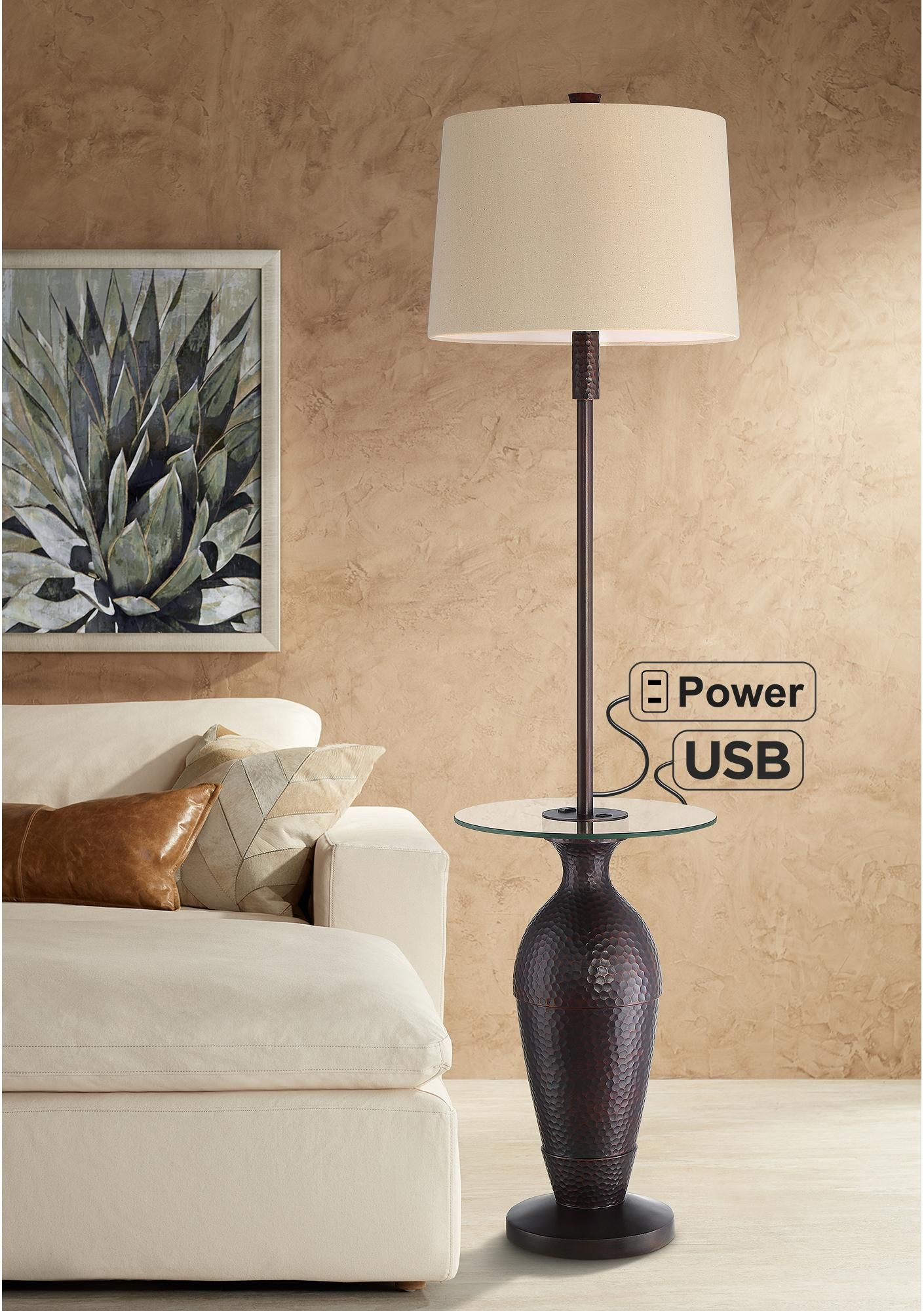 Floor Lamps Fallon Bronze Tray Table Floor Lamp With Usb Port And Outlet In 2020 Industrial Floor Lamps Floor Lamp Table Floor Lamp