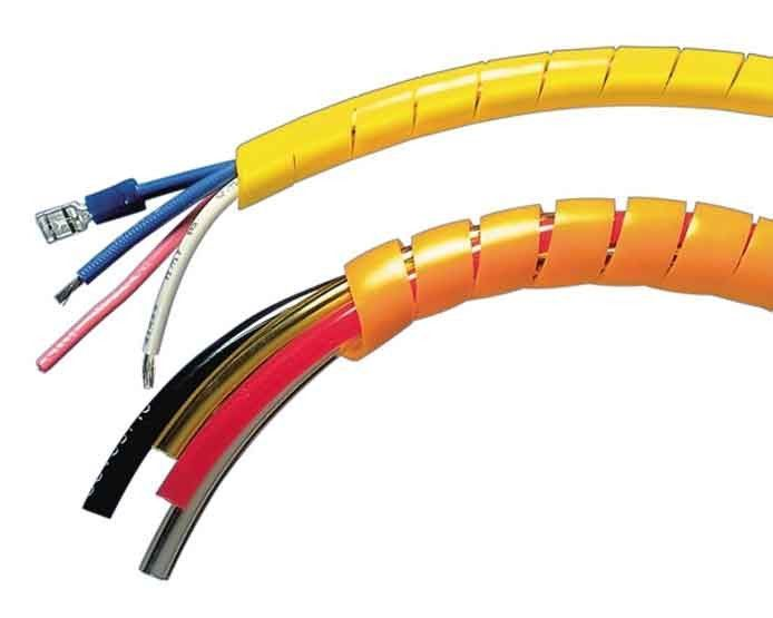 Spiral Wrap offers abrasion protection for wires, cables, hoses and ...