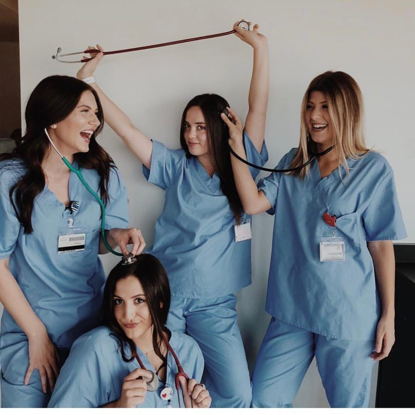 "#BabesInScrubs on Instagram: ""#squadgoals Nursing Students #majorbabes @madisonascher  #squadgoals Nursing Students #majorbabes @madisonascher ♀️✨ #babesinscrubs #thebabesbrand #nursingstudents"
