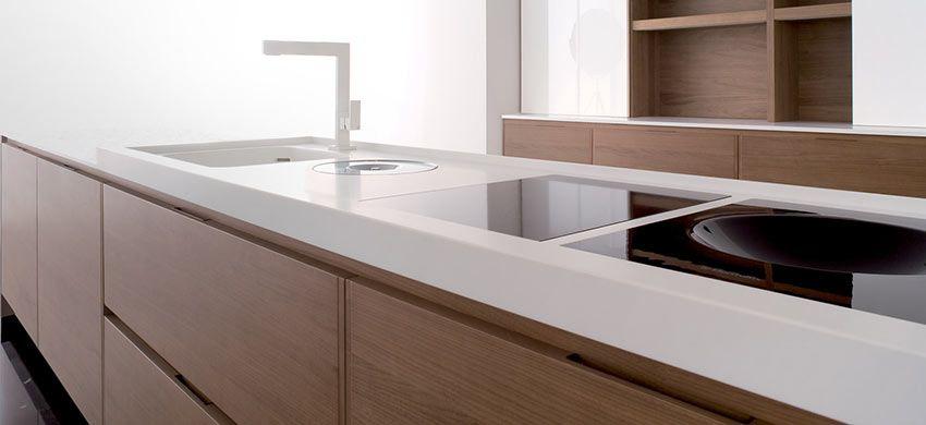 Encimeras de cocina de Corian | Cocinas | Pinterest | Room kitchen ...