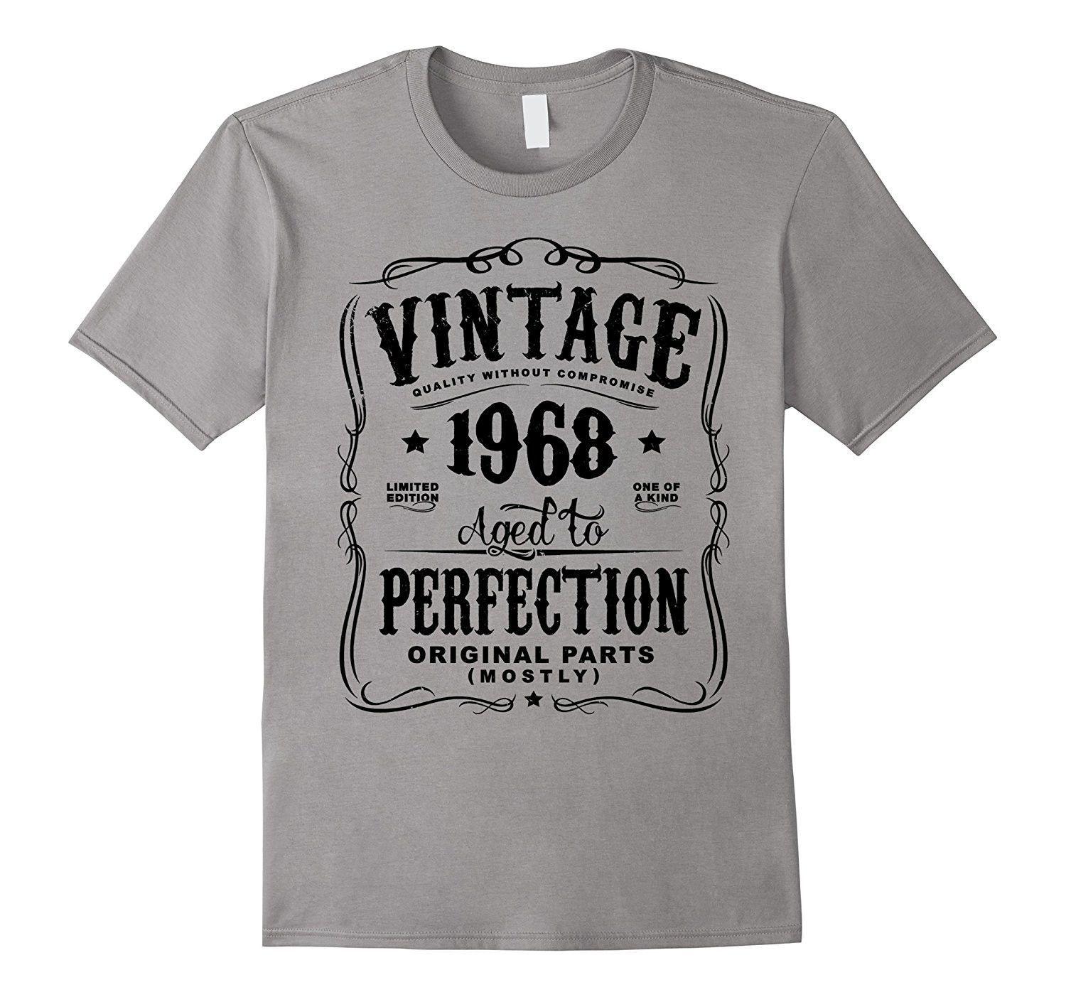 27fe829c898c8 Vintage Made In 1968 Birthday Gift T-Shirt (ML)   Birthday Party ...
