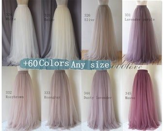 Photo of Adult wedding bridesmaid tulle skirt,bridesmaid dress, maxi skirt,photo shoot skirt,any size women skirt, wedding skirt,more than 200 colors