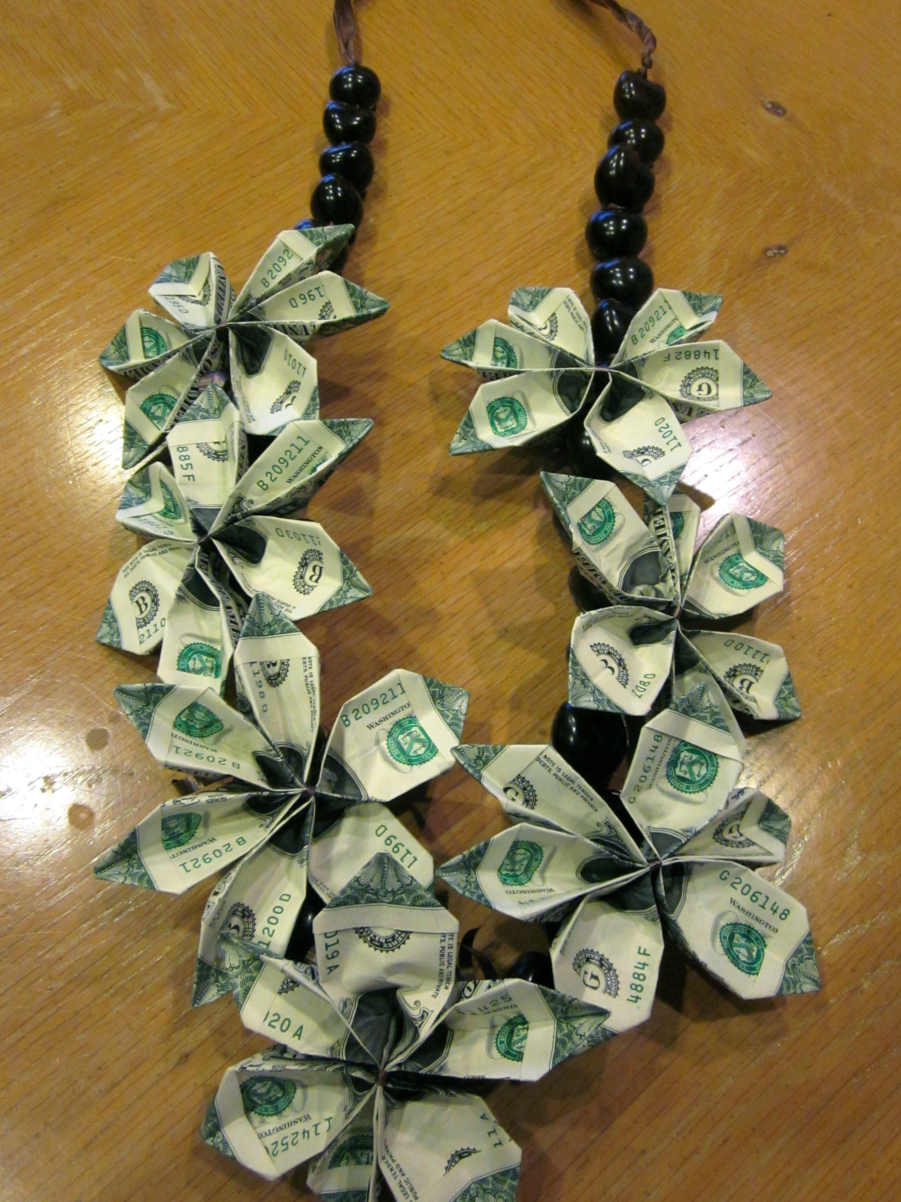 Graduation money lei money leis by marilyn pinterest for Diy to make money
