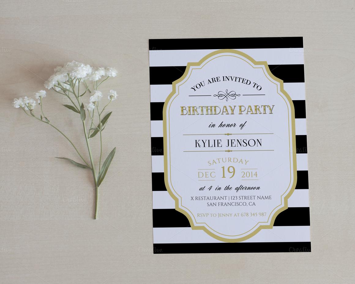 Birthday party invitation | Elegant birthday party, Party ...