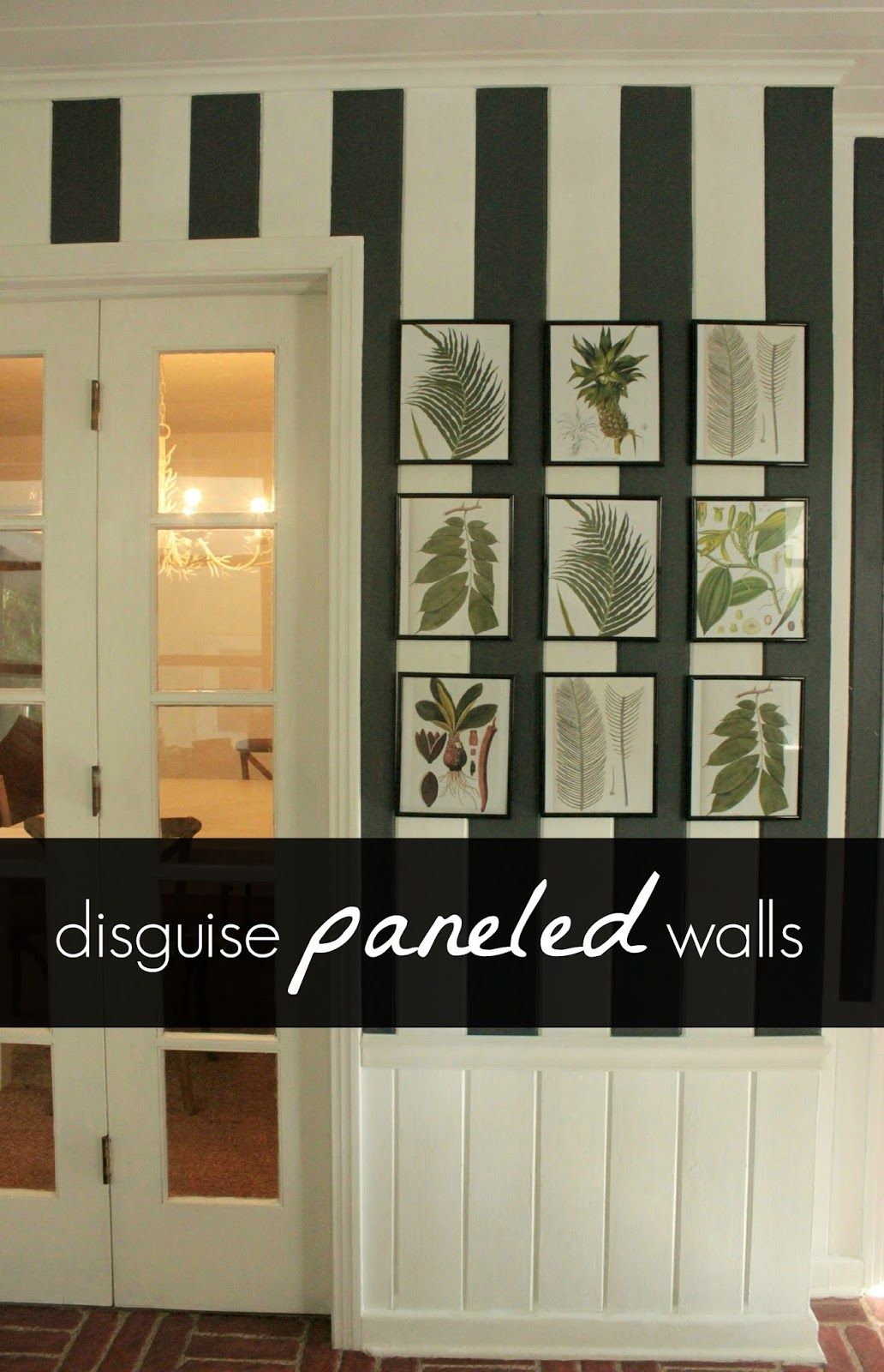 Disguise Paneled Walls Paneling Makeover Painted Paneling Walls Wall Paneling