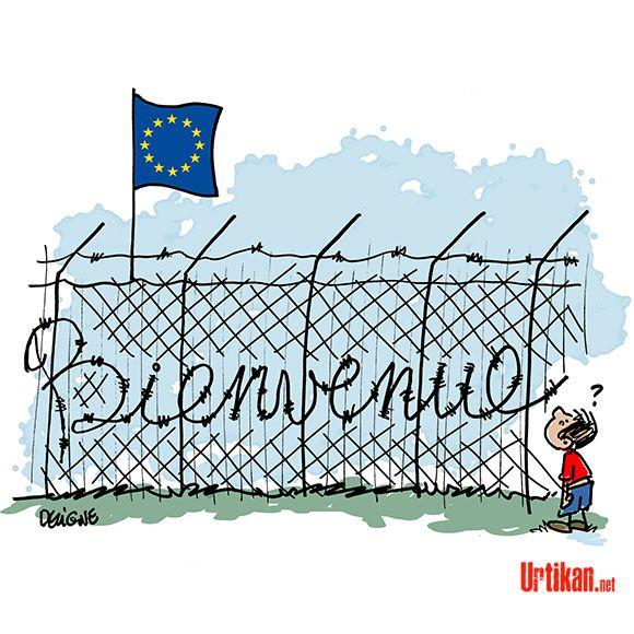 """Résultat de recherche d'images pour """"évacuation migrants dessins"""""""