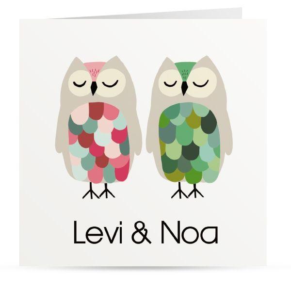 Tweeling uiltjes Levi en Nova door Roodborstje
