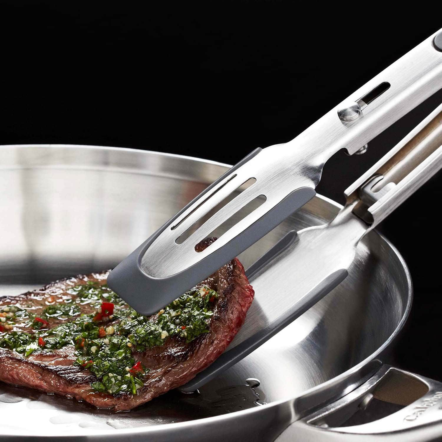 Kitchen Barbecue Breaded Beef Steak Multi-function Stainless Steel BBQ Tongs